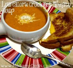 Low Calorie Crock Pot Tomato Soup #recipes #inspireothers