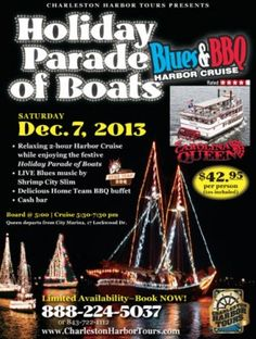 Holiday Parade of Boats Blues & BBQ Harbor Cruise | Charleston, SC Christmas Events | Holiday Events in Charleston, SC