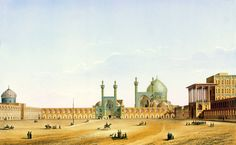 Naqsh-e Jahan Square by Pascal Coste 1 edited - Ispahan — Wikipédia