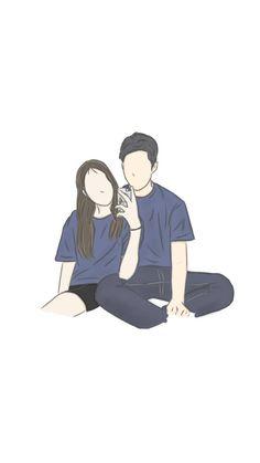 Read Couple Fan art from the story Cute Couple Drawings, Cute Couple Art, Cute Drawings, Cute Wallpaper Backgrounds, Cartoon Wallpaper, Cute Wallpapers, Cover Wattpad, Arte Dope, Cute Couple Wallpaper