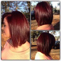 Red Bob Hair, Mahogany Hair, Wine Hair, Hair Color And Cut, Burgundy Hair, Hair Highlights, Gorgeous Hair, Bob Hairstyles, Hair Trends