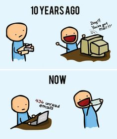 50 Comics That Perfectly Sum Up What Life Has Become With The Internet - We share because we care. A resource for sharing the latest memes, jokes and real stuff about parenting, relationships, food, and recipes Memes Humor, Funny Humor, Technology Addiction, Then Vs Now, Satirical Illustrations, You've Got Mail, Funny Illustration, Illustration Pictures, Golf Humor