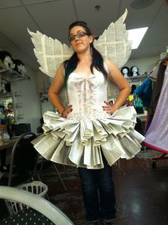 omgthatdress: I was a dictionfairy for Halloween. You can never have too many puns. omgthatdress: I was a dictionfairy for Halloween. You can never have too many puns. Deer Halloween Costumes, Last Minute Halloween Costumes, Diy Costumes, Adult Costumes, Haunted Halloween, Costume Ideas, Book Fairy Costume, Book Day Costumes, Paper Bag Princess Costume