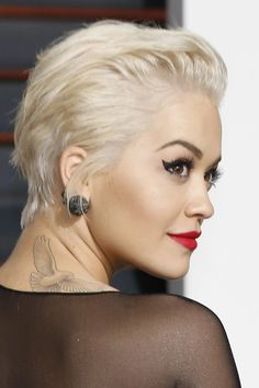 rita ora short hair slicked back - Google Search