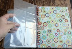 cut down baseball card holders for junk journal....genius!