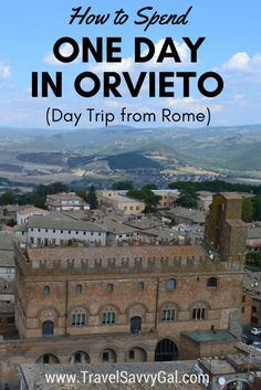 Going to Orvieto, Italy is the day trip from Rome I can't recommend enough, for its stunning cathedral, sweeping valley views, and the extensive underground worth exploring.  Click to find out how to spend one day - your 24 hours in this hillside gem!