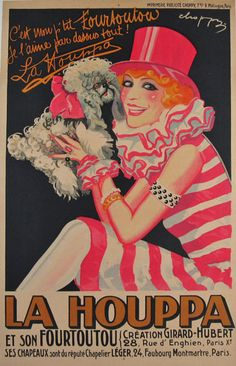 La Houppa by #Choppy from 1921 France #originalposter #vintageposter #antiqueposter #décor #gifts