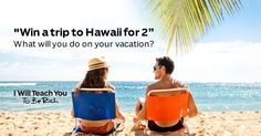 My Cousin Nicole and I are trying to Win this Trip!!!!     If you had a long weekend in Hawaii, what would you do there?