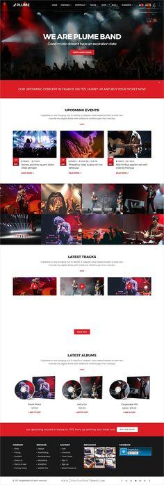 Music Band Website Template PSD | web | Pinterest | Band website ...