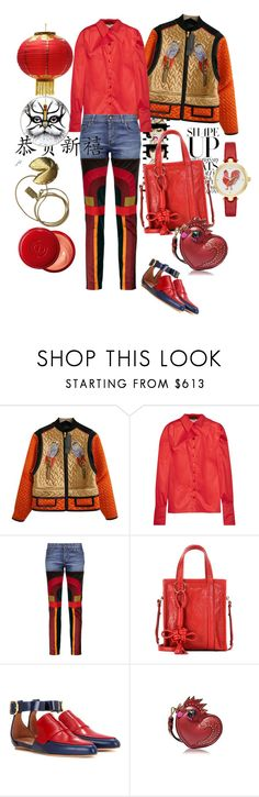 """""""Chinese New Year"""" by fabrique ❤ liked on Polyvore featuring Anja, Proenza Schouler, RVDK, Tom Ford, Balenciaga, Marni, MCM and Rory Dobner"""
