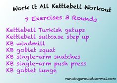 Full Body Strength Workout with Kettlebells