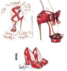 red-slippers-sketches