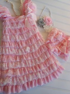 Ready to ShipLight Pink and White Lace Petti by TheRuffledbum, $39.95