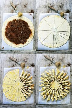 I bet I could modify this to make it savory.Maybe pesto and Parmesan. Tart Recipes, Sweet Recipes, Dessert Recipes, Pesto, Love Eat, Love Food, Desserts To Make, Food To Make, Fruit Galette Recipe