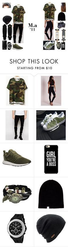 """..."" by filipa-oliveira-lipa ❤ liked on Polyvore featuring Missguided, Isabel Marant, ASOS, adidas, Zodaca, Coal, Swiss Legend and Eos"