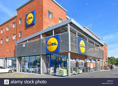 Image result for modern grocery store exterior Fresh Thyme, Lidl, Grocery Store, Exterior, Stock Photos, Modern, Image, Trendy Tree, Outdoor Rooms