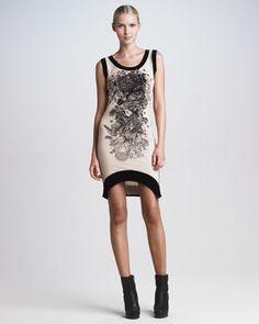 Sleeveless Tattoo-Flocked Dress by Jean Paul Gaultier at Bergdorf Goodman.
