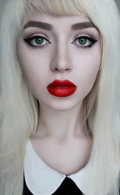 great make up and wow lips