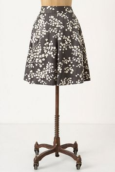 Inked Flora skirt from anthropologie