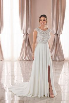 Style #6932 Sample available at Ellynne Bridal (Lincoln, Nebraska) for National Bridal Sale: July 17th - July 24th 2021. Visit our website or call to book an appointment: (402)-489-7770 Stella York Dresses, Modest Dresses, Prom Dresses, Bridal Gowns, Wedding Gowns, Stella York Bridal, Bridal Traditions, Wedding Dress Pictures, Dress Out