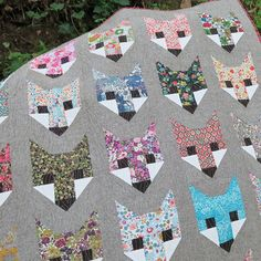 Fancy Fox Quilt, made with Liberty fabric