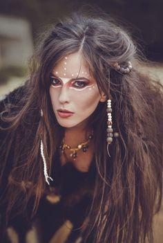 #makeup #girl #model #tribal #fierce #wild #feral #portrait #hair #photoshooting #fashion  @anna1000s