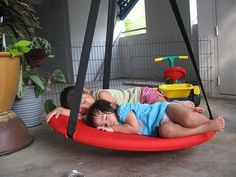 He would need a swing: IKEA Svava swing could be used in a sensory room