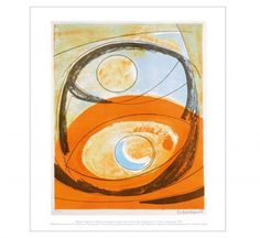 Mini print depicting Barbara Hepworth's Genesis, lithograph on paper, from the Curwen Studio series of Twelve Lithographs, 1969, part of the Graphic Works Collection.  £11.95