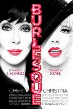 Burlesque Movie Poster Cher Christina Aguilera 24inx36in
