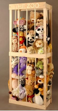 Stuffed animal storage.