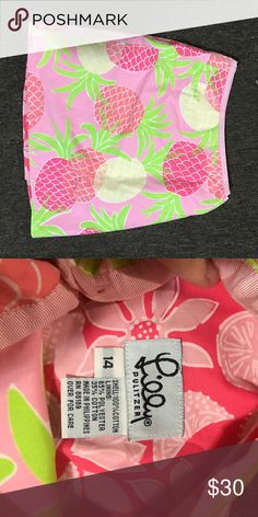 Lilly Pulitzer skirt Pink pineapple wrap around waist skirt Lilly Pulitzer Skirts Mini