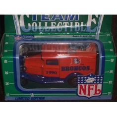 Denver Broncos 1990 Matchbox White Rose NFL Diecast Ford Model A Truck Collectible Car by NFL  $29.98