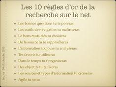 10 règles de d'or de la rechercher sur le Net (Net recherche 2010)