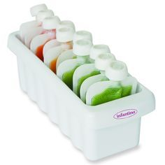 Line them up and pack your freezer with delicious food pouches that are ready to go when you are. Holds up to 12 Squeeze Pouches™. Keeps your Fresh Squeezed® and store bought pouches organized and eas