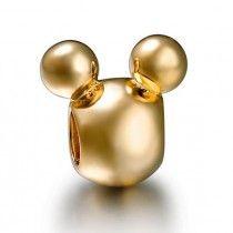 Berloque Banhado Ouro 18 k Mickey Disney #MargoBonita #Berloque #Charm #Pingente #Disney