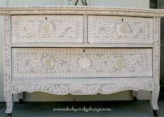 Somewhat Quirky: Painted Inlay Dresser