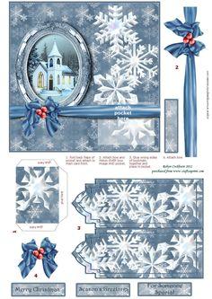 3D Christmas card.