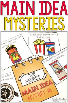 These main idea activities are perfect for first grade and 2nd grade classrooms! Finding the main idea and details in a hands on way is always fun for small groups and guided reading! Included are creative puzzles, main idea mystery bags, paragraph with topic sentences, worksheets, graphic organizers, anchor charts, and more! The main idea mysteries are always a favorite! Use the organizers with books of your choice, too! Great for nonfiction main idea and main topic units!