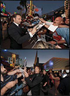 Andrew Lincoln & Norman Reedus, The Walking Dead, Season 3 Premiere