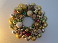 Make your own vintage ornament wreath