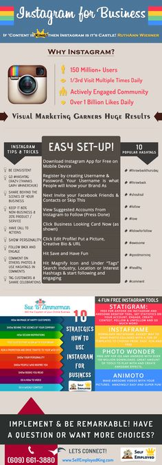 Instagram for business #infographic