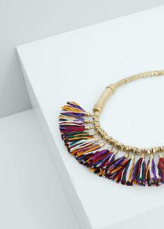 Halskette mit quasten   MANGO