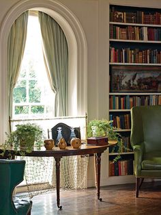 Oval Library, Manor House at Ladew Gardens: