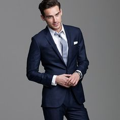 I like the Navy slim suit. different, but still classic!