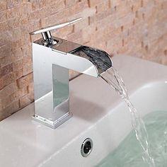 Badezimmer Küche HPB Zeitgenössisch - Wasserfall - Messing ( Chrom )