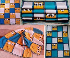 Minion Blanket Free Crochet Pattern