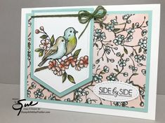 Bird Ballad Side By Side by StampinForMySanity - Cards and Paper Crafts at Splitcoaststampers Stampin Up Catalog, Engagement Cards, Bird Cards, Stamping Up Cards, Scrapbook Cards, Scrapbooking, Anniversary Cards, Happy Anniversary, Homemade Cards