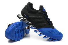 wholesale dealer ad304 7f4a3 Adidas Springblade Drive 2 Shoes Black Blue Black Adidas, Adidas Zx, Adidas  Sport,
