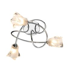 £70 Dar CIC5350 Cicero 3 Light Ceiling Light Polished Chrome