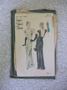 Vintage Sewing Pattern Vogue Special Design Women's Evening Dress S4613 (gown)